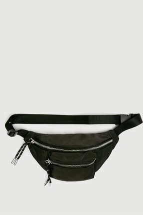 Pull & Bear Kadın Siyah Bel Çantası 16079014