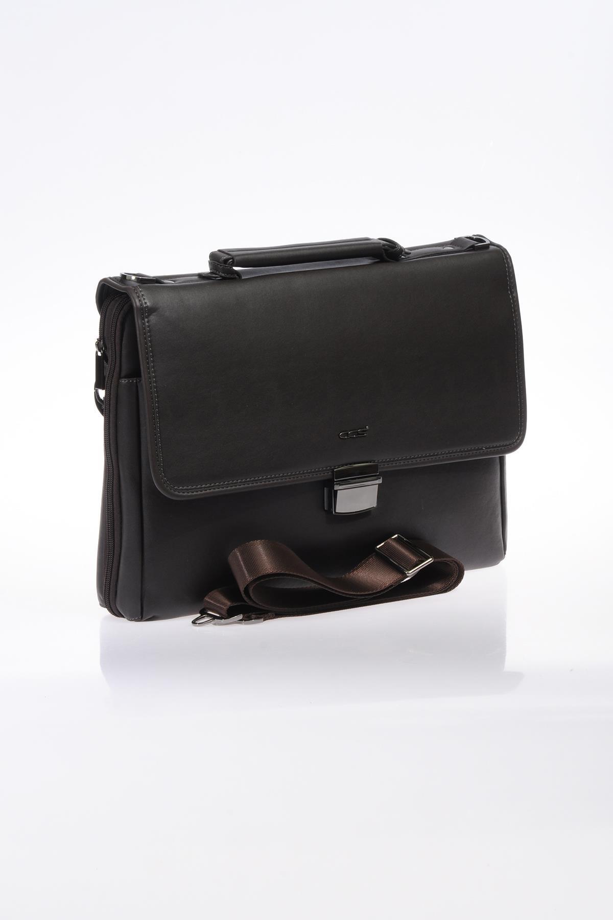 ÇÇS Kahverengi Unisex Laptop & Evrak Çantası 8698598430594 2