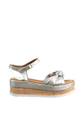İnci Hakiki Deri Gümüş Kadın Sandalet 120130005430