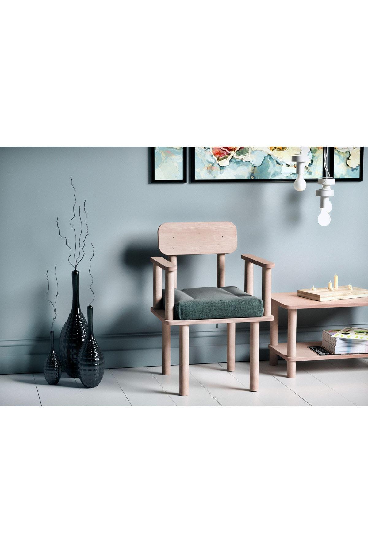 VUDIVA Magnesia Kolçaklı Sandalye Yeşil
