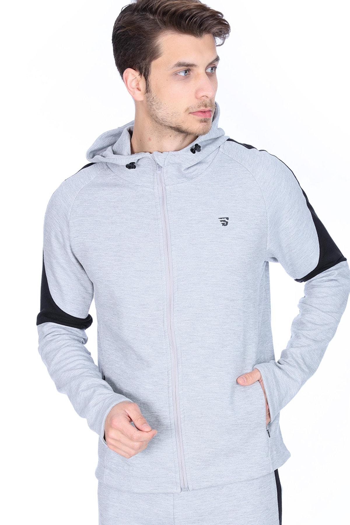 Sportive Erkek Antrenman Sweatshirt - 710511-GML 1