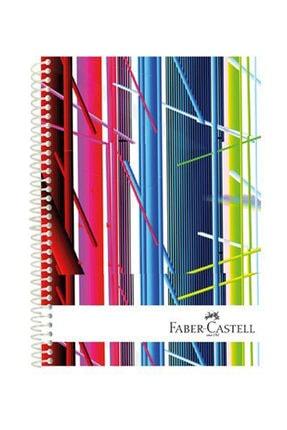 Faber Castell Faber Festival A4 160 Yaprak 3+1 Bölmeli Sert Kapak Defter
