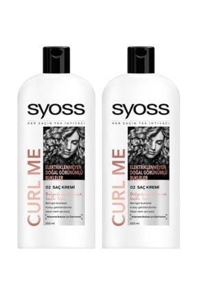 Syoss Curl Me Saç Kremi 550 ml x 2 Paket