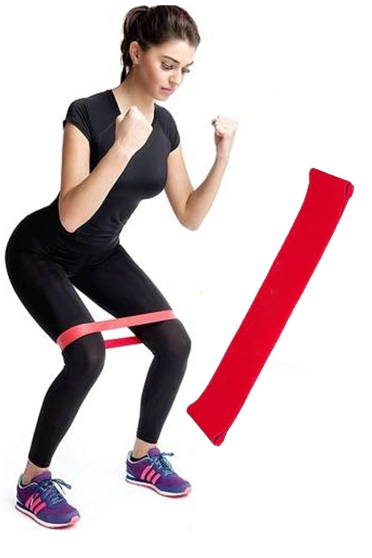 Jet Aerobik Band Pilates Plates Yoga Fitness Squat Çalışma Lastiği Latex Egzersiz Kırmızı