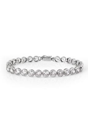 Chavin Kadın Su Yolu Taşlı Kadın  Gümüş Bileklik  ehy-cz84