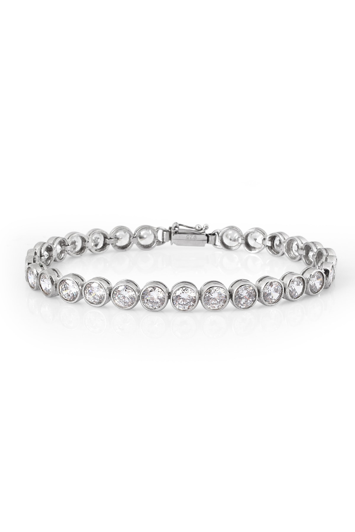 Chavin Kadın Su Yolu Taşlı Kadın  Gümüş Bileklik  ehy-cz84 1
