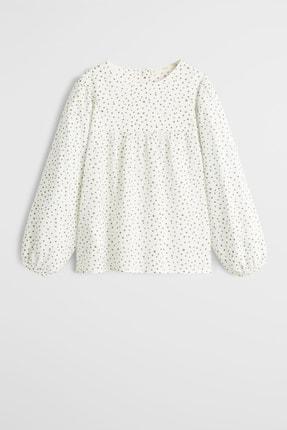 MANGO Kids Kırık Beyaz Kız Çocuk Puantiyeli Bluz 53075760