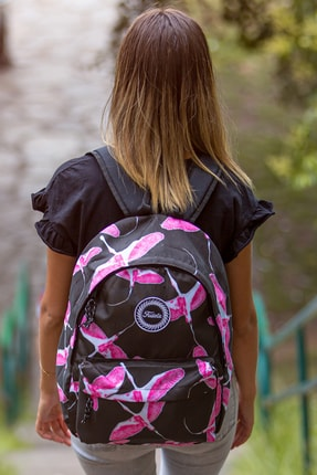 Fudela Siyah Flamingo Unisex Sırt Çantası FE 01