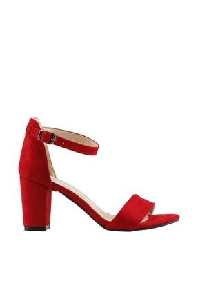 Ayakland Kırmızı Kadın Topuklu Ayakkabı  19YAYAYK0000075