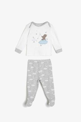 Koton Erkek Bebek Gri Desenli Bebek Takımları 0KNB14192OK