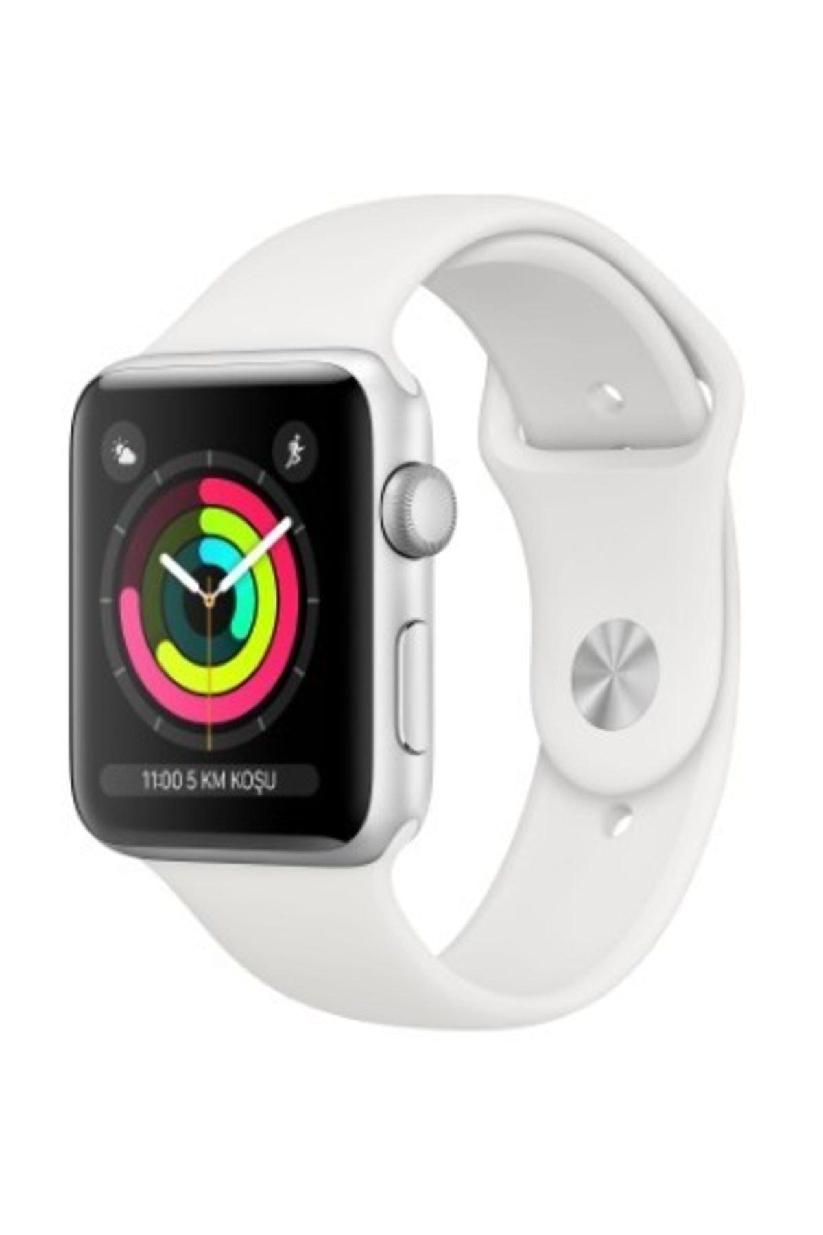 Apple Watch Seri 3 GPS 38 mm Gümüş Rengi Alüminyum Kasa ve Beyaz Spor Kordon - MTEY2TU/A 1