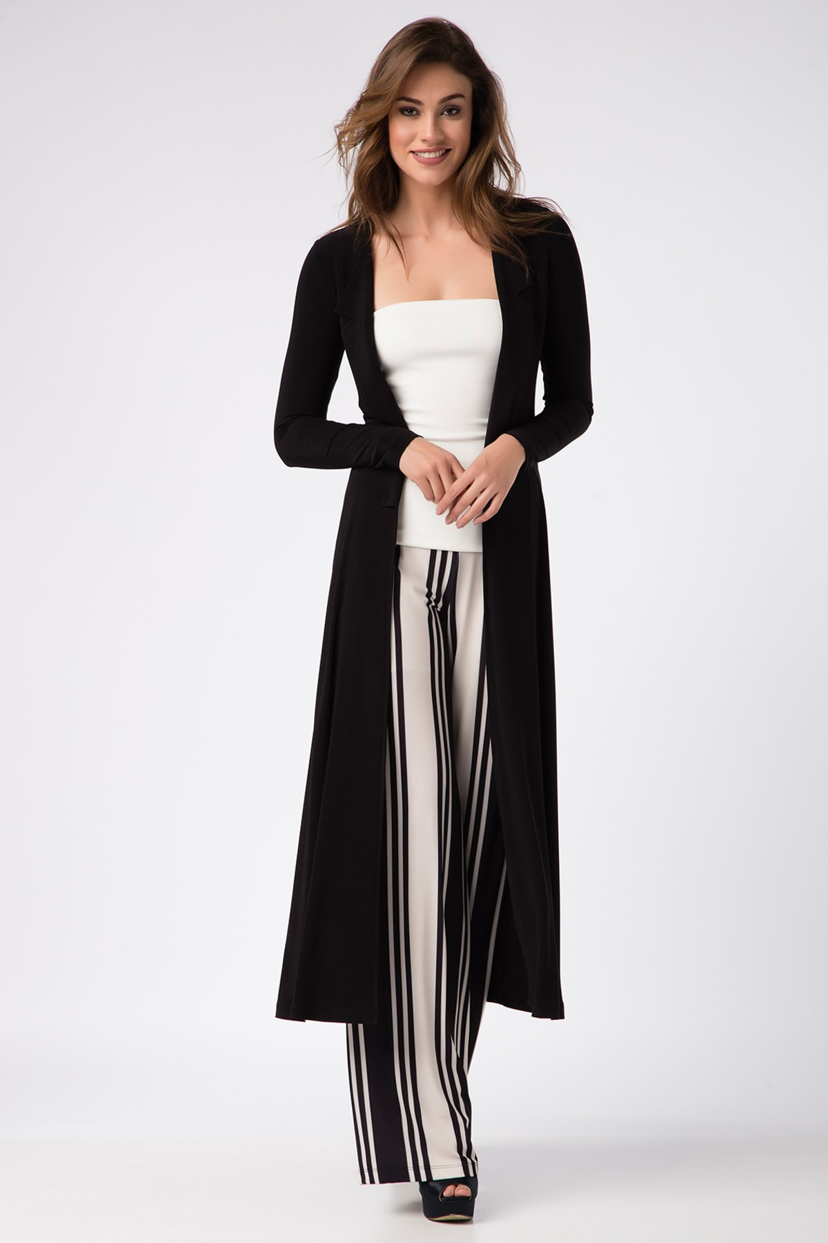 Laranor Kadın Siyah Kimono Hırka 17L5257 1