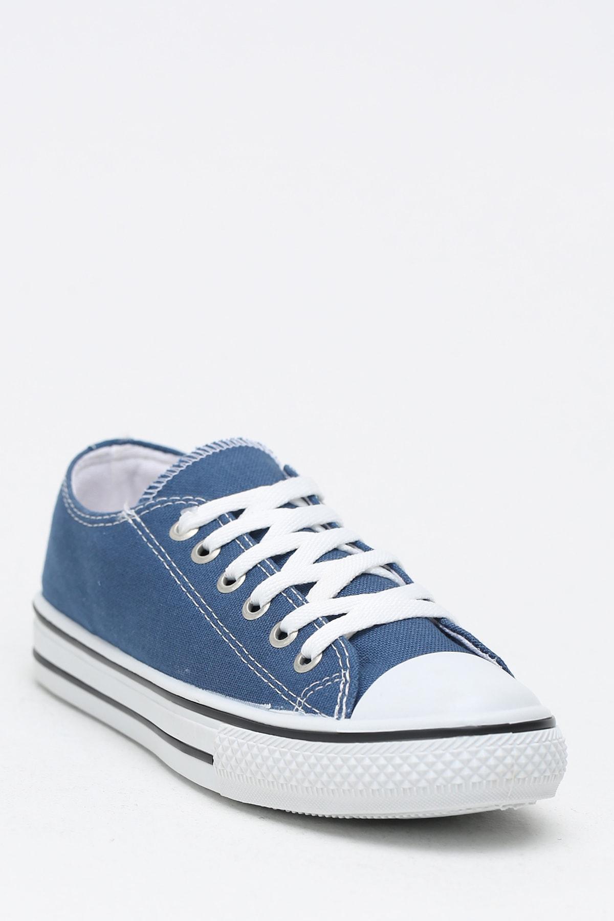 Ayakkabı Modası Lacivert Krem Kadın Ayakkabı M9999-19-100165R 2