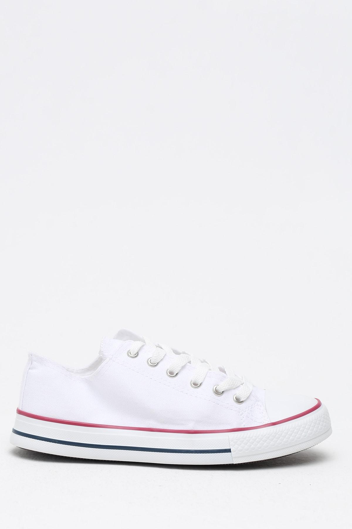 Ayakkabı Modası Beyaz Kırmızı Kadın Ayakkabı M9999-19-100165R 1