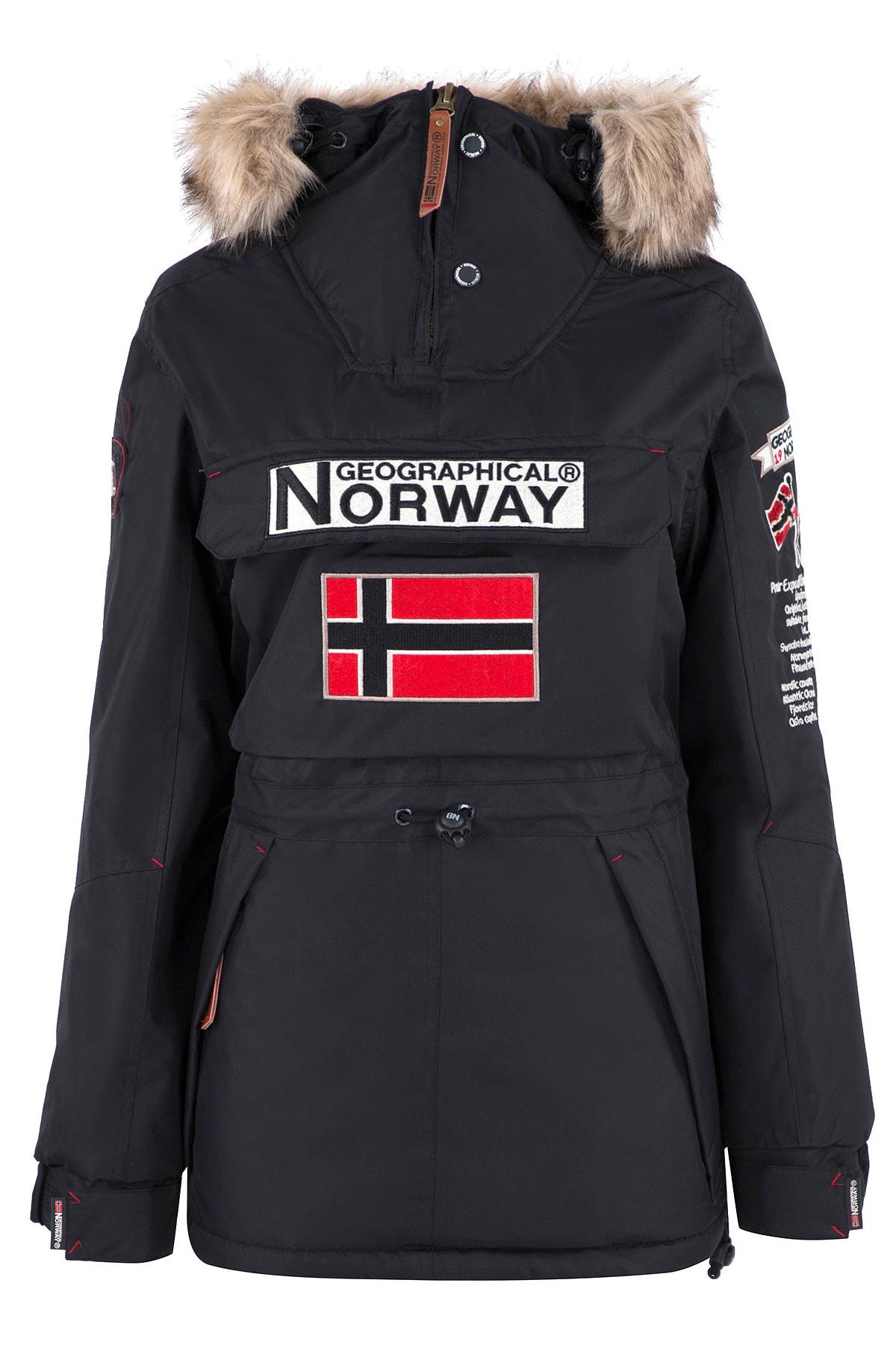 Norway Geographical Kadın Siyah Parka BOOMERA 1