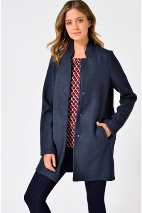 Vero Moda Kadın Lacivert Ceket Vmbrushed Katrıne  3/4 Jacket 10198835