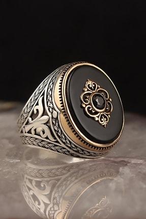 BayVog Oniks Taşlı 925 Ayar Gümüş Erkek Yüzük