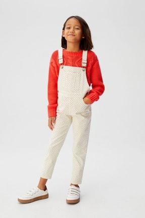 MANGO Kids Kırık Beyaz Kız Çocuk Salopet 57077652