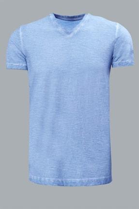 Lufian Erkek Geras Basic T- Shirt Aqua 111020008100340