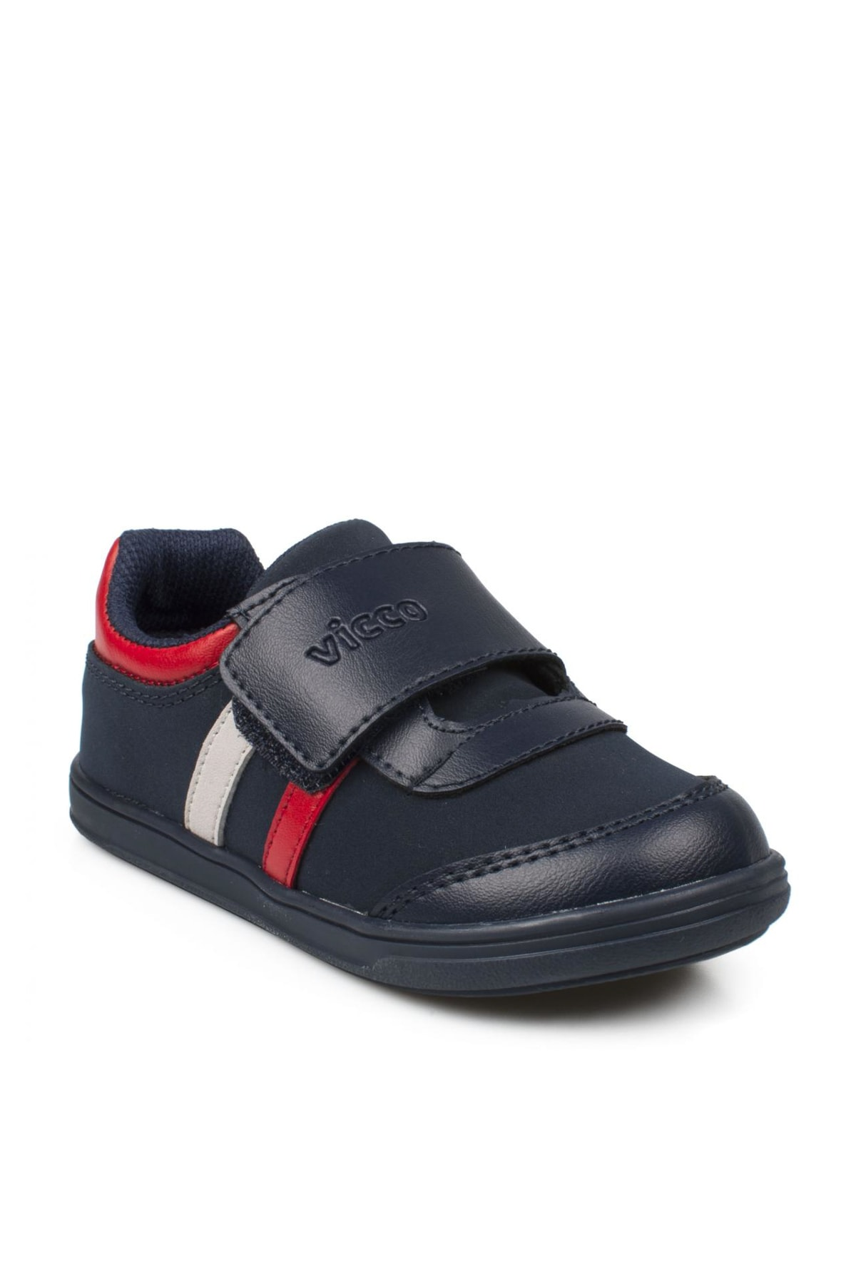 Vicco Lacivert Kırmızı Kız Bebek Yürüyüş Ayakkabısı 211 950.E19K223 1