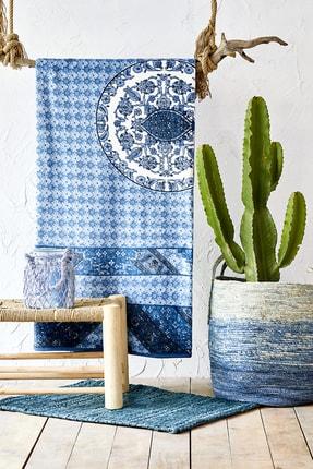 Karaca Home Levni Mavi Çift Kişilik Softy İspanyol Battaniye