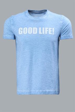 Lufian Erkek Ganges Vintage T- Shirt Mavi 111020007100300