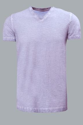 Lufian Erkek Geras Basic T- Shirt Lila 111020008100870