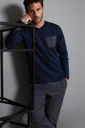 AYYILDIZ Erkek Lacivert Pijama Takımı