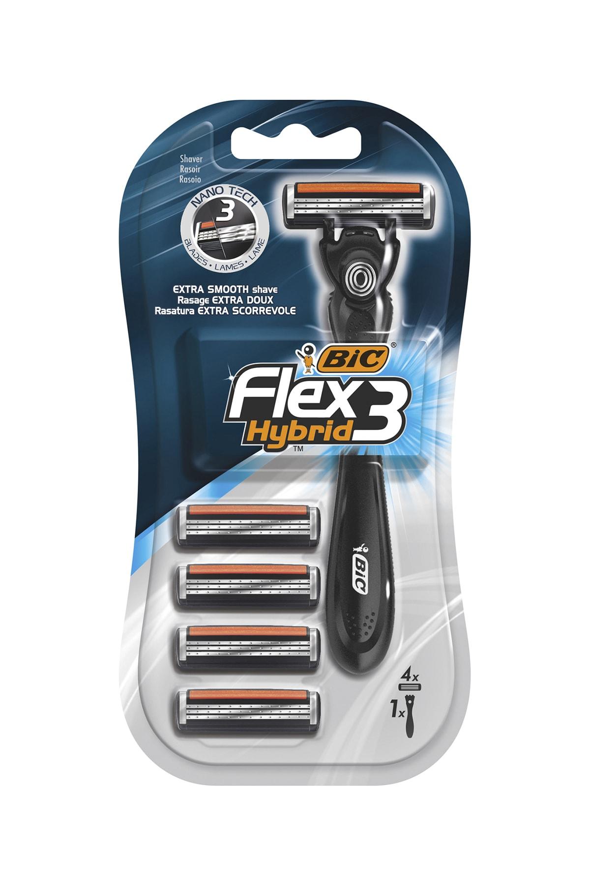 Bic Flex 3 Hybrid Tıraş Bıçağı 4 Kartuşlu (3 Bıçak) 1