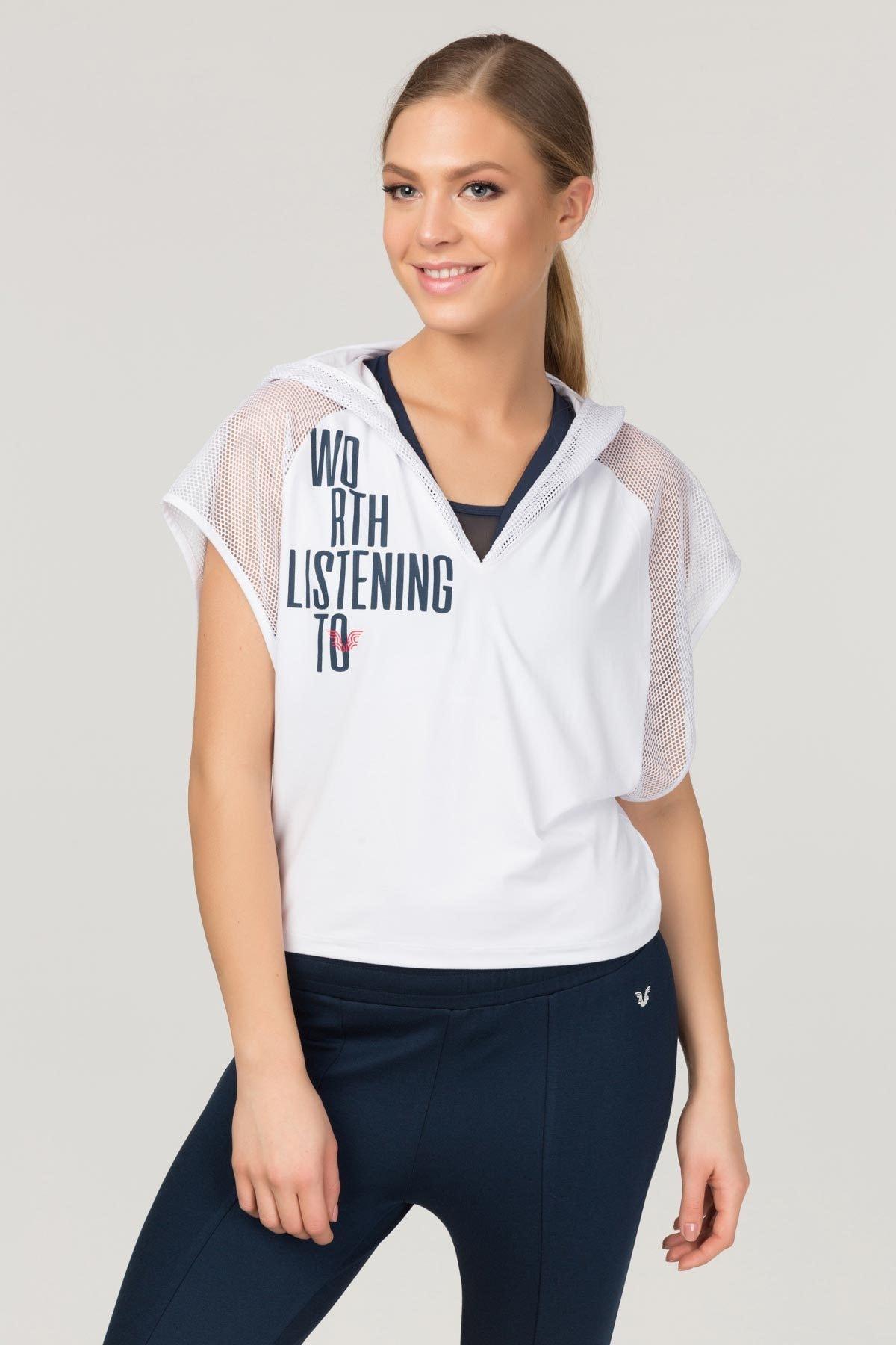 bilcee Beyaz Kadın Antrenman T-Shirt FS-1121