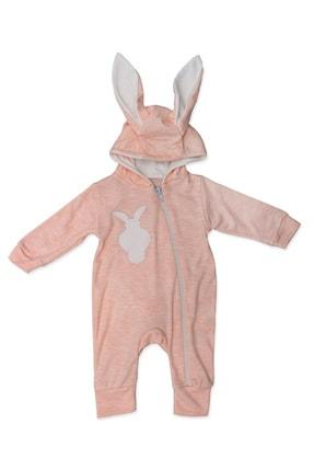 Murat Baby Ponpon Kuyruklu Pudra Tavşanlı Bebek Tulumu K3032