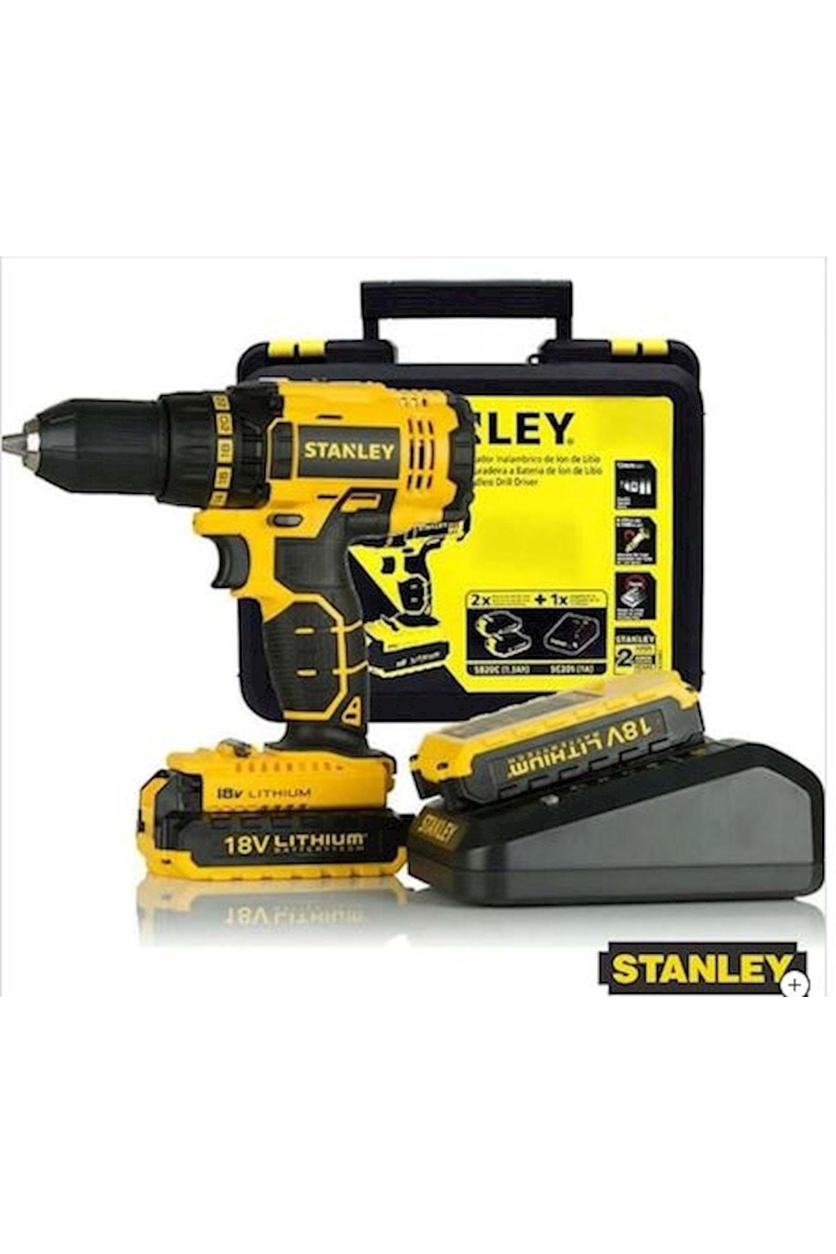 Stanley SCD201D2K 18 Volt 2 Ah Şarjlı Darbesiz Matkap Vidalama