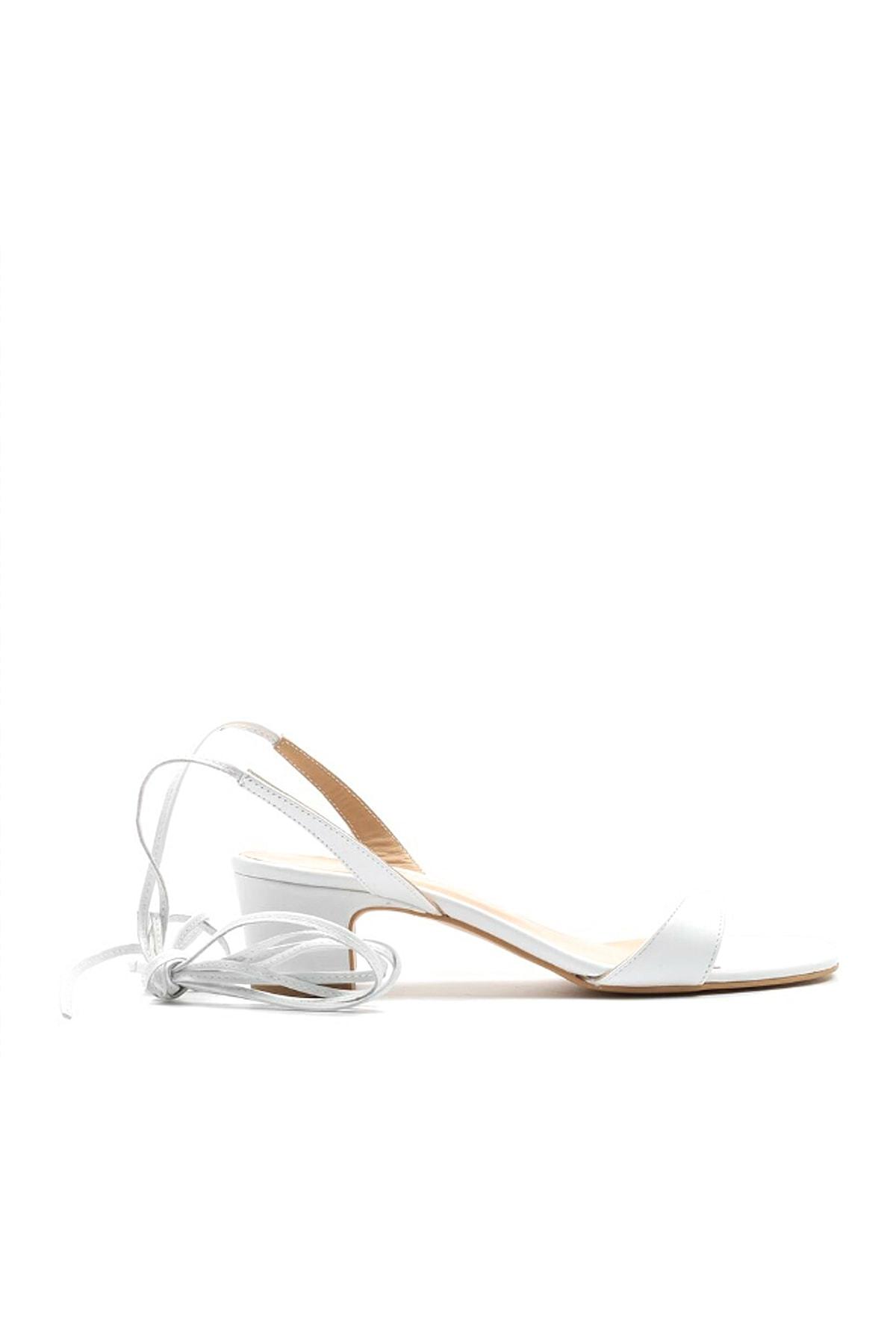 Hotiç Hakiki Deri Beyaz Kadın Sandalet 01SAH144290A900 2