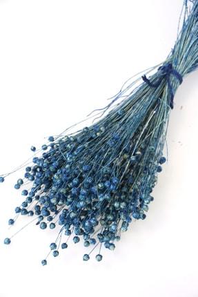 Yapay Çiçek Deposu Kuru Çiçek Luna Otu Mavi