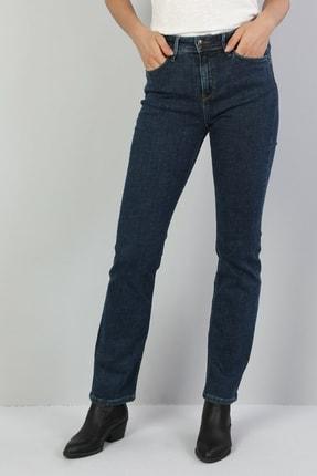 Colin's KADIN 792 Mıla Orta Bel Düz Paça Regular Fit Mavi Kadın Jean Pantolon CL1047042