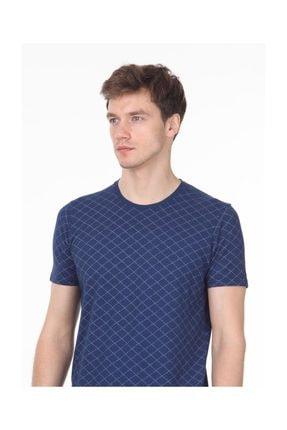 Ramsey İndigo Baskılı Örme T - Shirt RP10113917