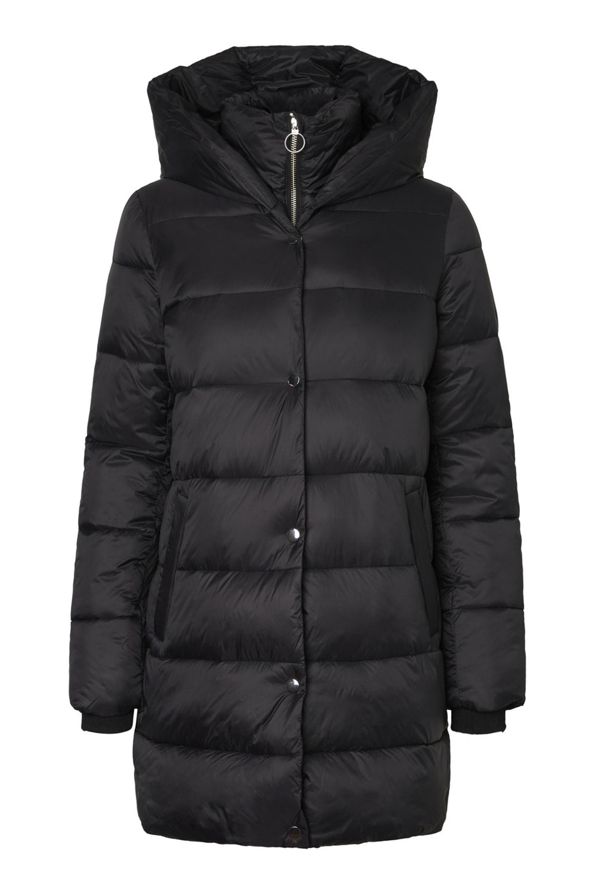Vero Moda Kadın Siyah Uzun Mont 10217658 VMFORTUNE 1