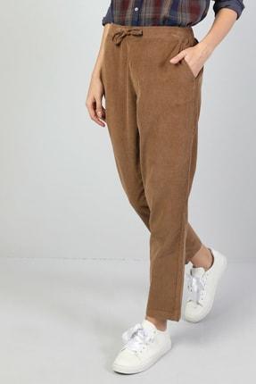 Colin's Regular Fit Orta Bel Düz Paça Kadın Kahverengi Pantolon