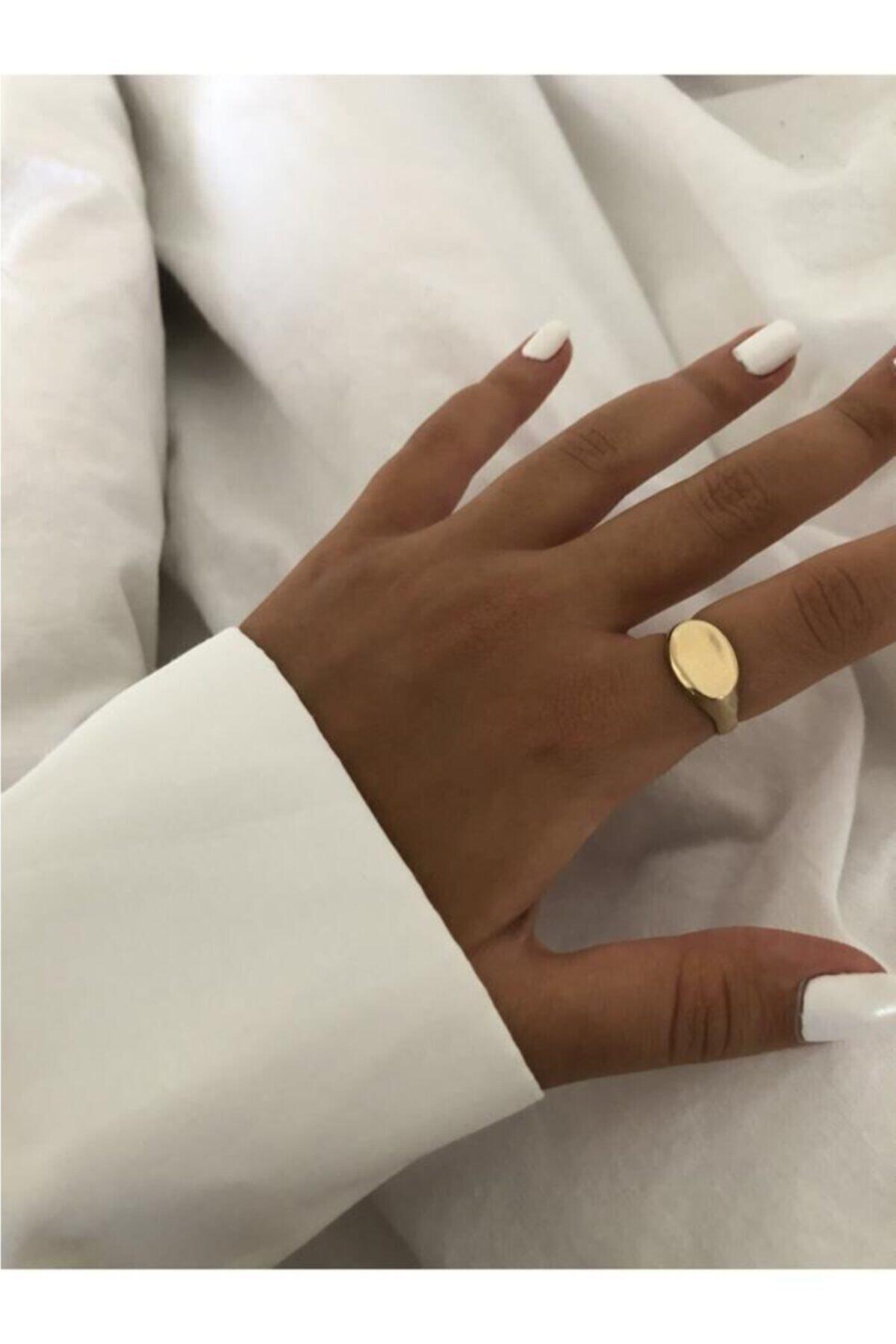 The Y Jewelry Kadın Altın Şövalye Yüzük 1