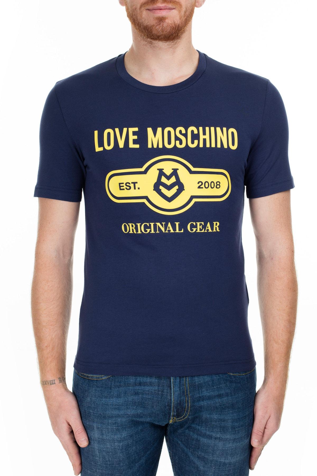 Love Moschino Erkek Lacivert T-Shirt S M47312Ie1811 Y61 1