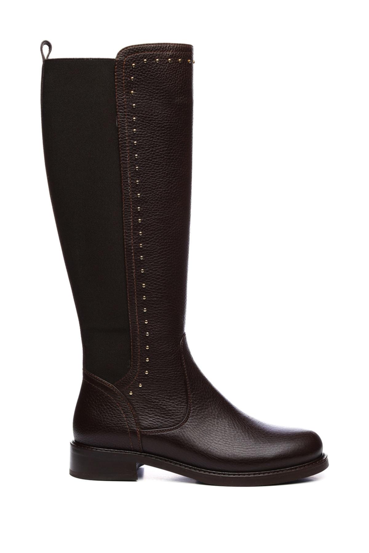 KEMAL TANCA Hakiki Deri Kahverengi Kadın Çizme Çizme 94 6429 C BN CZM 1
