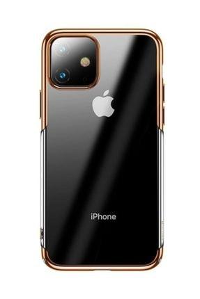 Baseus Glitter Case Iphone 11 6.1 2019 Şeffaf Lüx Silikon Kılıf Gold