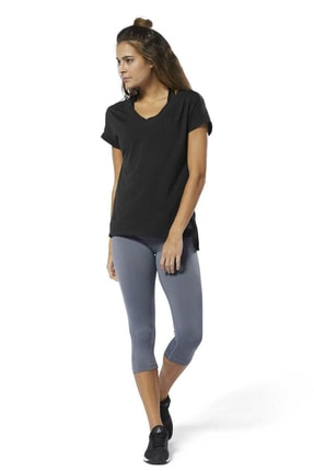 Reebok WOR SUP DETAIL TEE Siyah Kadın T-Shirt 100575568