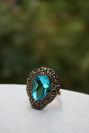 Stoneage Jewellery Kristal Taşlı El Yapımı Yüzük