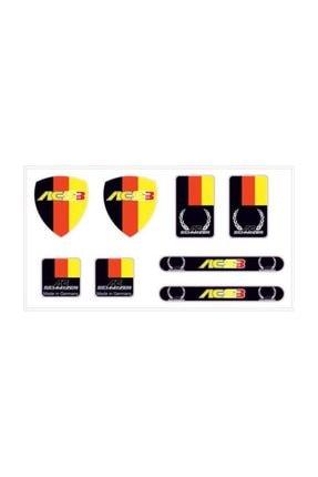Automix Ac Schnitzer Sticker Çıkartma Etiket 3d 8 Adet