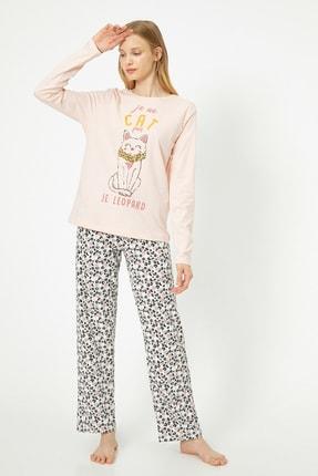 Koton Kadın Pembe Pijama Takımı 0KLK79238MK