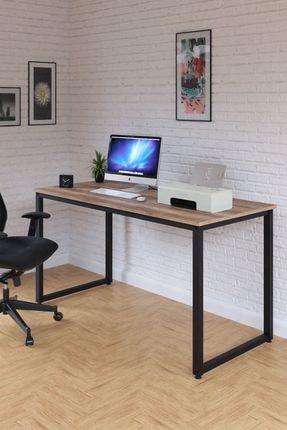 Ceramical Çalışma Masası, Bilgisayar Masası, Ofis Masası (60x140 Cm, Sakremento)