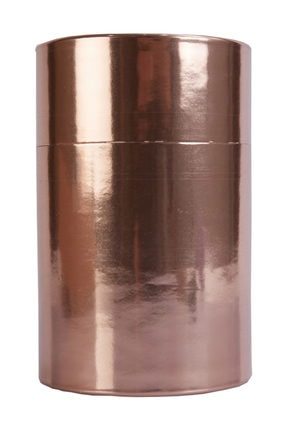Ambalaj Hikayeleri Silindir Karton Kutu 5 Adet Metalize Bronz Kaplı