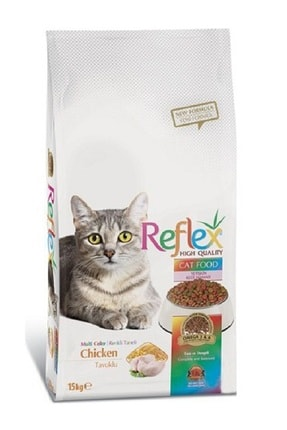 Reflex MultiColour Tavuklu Yetişkin Kedi Mamasi - 15 kg