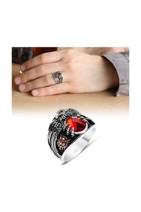Tesbihane Kırmızı Zirkon Taşlı Üretildiği Malzeme : 925 Ayar Gümüş Son İmparator Yüzüğü Nqtwbfm3